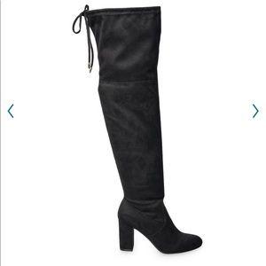 SO Ladybug woman's over the knee heal boots Sz 7